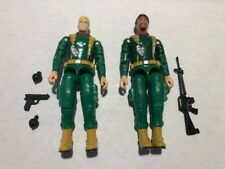 GI Joe Hawk and Breaker Green Infantry with grenades and weapons