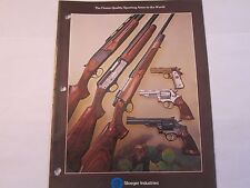 1979 Stoeger Sporting Arms Catalog Shotguns Rifles Handguns Franchi More Listed
