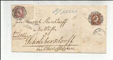 Preussen Mi.-Nr. 6a RNr 14 + 1 / 184 je ideal a. 1 Sgr. rosa (riesenrand re. Rd.