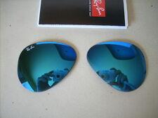 """RAY BAN  coppia lenti sole   X  RB 3025  """" specchio blu""""  55 mm"""