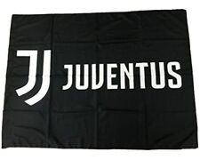 BANDIERONE GIGANTE JUVENTUS cm 100 x 140 ORIGINALE UFFICIALE bandiera juve NERA