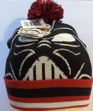 NEW STAR WARS Darth Vader BLACK RED Cuff POM Beanie Hat one size