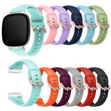 For Fitbit Versa 3 / Sense Replacement Pure Color Silicone Sport WristBand Strap