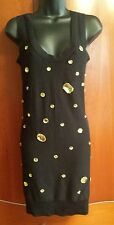 NWOT SONIA RYKIEL for H&M Black 100% Cotton jewelled sheath dress Size Small