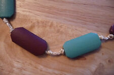 MINT & CHOCOLATE WOOD BEAD NECKLACE MONSOON ACCESSORIZE BRAND NEW BNWT RRP £6