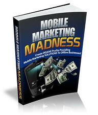 Mobile Marketing Madness Ebook On CD $5.95 Plus Resale Rights Free Shipping