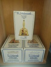 3 Vintage Brand New Goebel Hummel Annual Bells 1979 1980 1981 Original Boxes