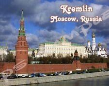 Russia - MOSCOW - KREMLIN - Travel Souvenir Flexible Fridge Magnet