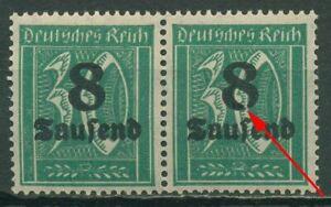 Deutsches Reich 1923 Freimarke mit Plattenfehler 278 X PF VI postfrisch, Paar