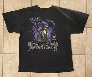 Vtg 2007 Y2K Undertaker WWF WWE Wrestling Shirt The Rock Dennis Rodman 90's XL