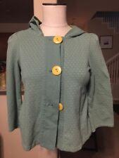 Urban Outfitters Kimchi & Blue Green/Yellow Polka Dot 3/4 Sleeve Cardigan Sz. S
