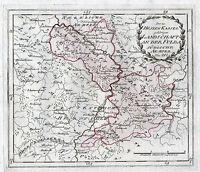 Hessen Kassel An der Fulda Südliche Ämter Hersfeld Landkarte 1791 Original