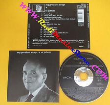 CD AL JOLSON My Greatest Songs 1991 Germany MCA RECORD  no lp mc dvd (CS8)