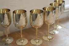 Moet Chandon GOLD Acrylic Champagne Glasses 2017 Goblets 6 Pack Double Sided NEW