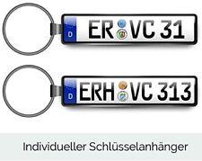 Schlüsselanhänger KFZ Kennzeichen für VW OPEL MERCEDES FORD AUDI BMW SKODA Auto