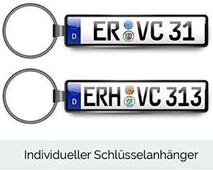 Schlüsselanhänger originalgetreuem Kennzeichen/Wunschtext Geschenk Nummernschild