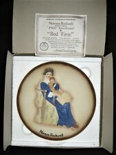 "Norman Rockwell ""Bed Time"" Collector's Item Plate 1984; Mother/Child"