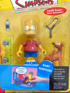 Bart Simpson Playmates The Simpsons World of Springfield Interactive Figure NIP