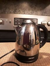 New listing Aroma Hot H20 X Press 7 Cup Electric Water Kettle Awk-125S Stainless