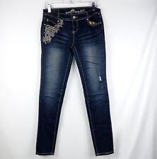 Almost Famous Always Fabulous Jeans Women Size 7 Blue Skinny Jeans