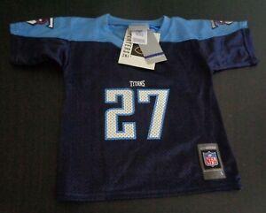 EDDIE GEORGE Tennessee TITANS Football REEBOK Toddler 4T Blue Jersey NFL New