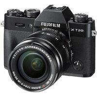 Fujifilm X-T20 24.3MP 4K Mirrorless ILCE Camera + XF 18-55mm OIS Fuji Lens (UK)