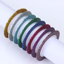 8stk 1mm Matte Glitter Nagel Streifen Band Linie Bunt Nail Art Aufkleber Declas
