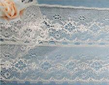 "Ivory Vintage Lace Trim 5 Yd x 3-1/2"" Bridal Eyelash O66V Buy 3 Trims Get 1 FREE"