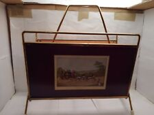 Vintage Retro Atomic Sputnik Magazine Rack New London Royal Mail Coach Scene