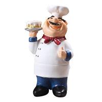 Resin Kitchen Chef Statue Chef Figurine Kitchen Decor Table Centerpiece Cake