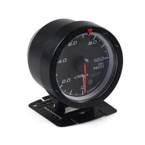 12V Car Modified 2.5''60MM 0-1000kpa Oil Pressure Meter Gauge  Set W/Holder