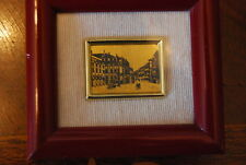 WONDERFUL MINIATURE ITALIAN 22 KT GOLD LEAF PICTURE OF THE SCALA THEATER  MILANO