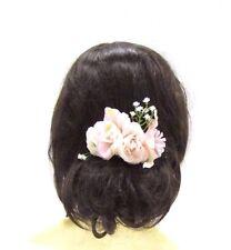 White Blush Light Pink Gypsophila Rose Flower Hair Comb Bridal Bridesmaid 3042
