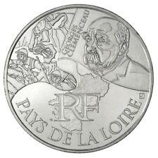 Pièce de 10 euros en argent des Pays de la Loire - Euro des régions 2012 -
