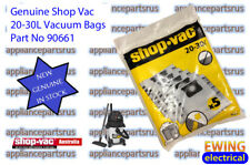 Shop Vac 20-30L Vacuum Cleaner Bags - 90661 Pk5 - NEW - GENUINE - IN STOCK
