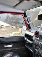 BLACK Aluminium dash air vent bezels for Land Rover Defender TDCI 90 110 130