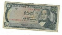 COLOMBIA 100 PESOS 1974