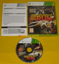 NEED FOR SPEED THE RUN  XBOX 360 Versione Italiana 1ª Edizione  ••••• COMPLETO