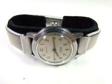 mens watch Stainless St Spring band ! Vintage 17 j Bernhuf Swiss wind-up Louvic