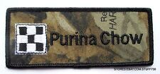 "PURINA CHOW EMBROIDERED SEW ON PATCH CAMMO LOGO FLAG FEED FARM 4 1/2"" x 2"""