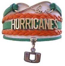University of Miami Hurricanes College Infinity Bracelet Jewelry Apparel