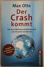 DER CRASH KOMMT von Max Otte BUCH Mängelexemplar Taschenbuch Ullstein Bestseller