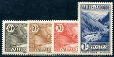 FRANZÖSISCH ANDORRA 1937 59,63,65,70 ** POSTFRISCH (I1915
