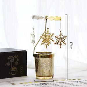 Christmas Decor Rotating Carousel Tea Light Candle Holder Stand Elk Light Gifts