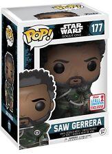 Funko ¡ POP! Vinilo Star Wars Rogue UNO Saw Gerrera con pelo Modelo Figura N º