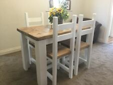 Rustic, Farmhouse Style Dining Table and 4 Chairs