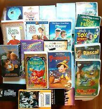 Classic Movies VHS Lot of 21 Disney Barney E.T Black Beauty Cartoon Comedy ETC