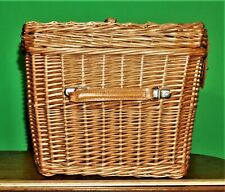 Traditional Wicker Wood Picnic Basket - Va Pickup Only