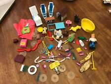 Lot Of Vintage Plastic Toys Furniture Brushes And More