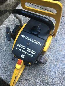 """McCulloch Tronçonneuse Autocollants OEM vintage forestier Taille 6.5/"""" X 2/"""" envoi gratuit"""